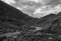 Irish road #1 (jean matthieu) Tags: road ireland light summer vacation sky bw irish sun white holiday black color green art stone clouds canon fun photography eos photo day august kerry burren lanscape 2014