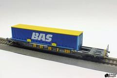 Kombimodell + 45ft swap body (Romar Keijser) Tags: scale train wagon model ho bas 187 modell trein logistics schaal modelspoor h0 kombimodell