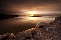 COCOMOTION_DSC3937_E116 (antelope reflection) Tags: sunset orange reflection water colors clouds utah chocolate lakebed antelopeisland thegreatsaltlake crackedearth nikond90 tamron1024