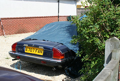 1988 JAGUAR XJ-SC V12 AUTO SPORTS (shagracer) Tags: auto classic cars sports up car soft open top under 1988 convertible driveway cover vehicle jag british xjs jaguar he 53 rag tarpaulin laid v12 stood unloved xjsc e707fan