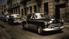 Line of Classics - Havana, Cuba (IV2K) Tags: taxi sony havana cuba centro castro caribbean cuban habana hdr kuba lahabana vedado rx1