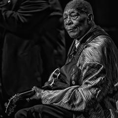 B.B. King At 88 (Culture Shlock) Tags: portrait people blackandwhite bw men portraits guitar blues singer lucille bbking