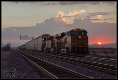 Sunset at Cadiz (K-Szok-Photography) Tags: california backlight canon outdoors desert sunsets trains socal canondslr bnsf railroads mojavedesert 50d canon50d desertbeauty sbcusa kenszok kszokphotography
