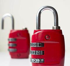 Padlock (rph10uk) Tags: red macro closeup closed luggage padlock combination macromondays d5200