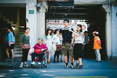 Shanghai Street Scene (Sam Gu Wang) Tags: china street fuji shanghai scene fujifilm   xe1 tianzifang