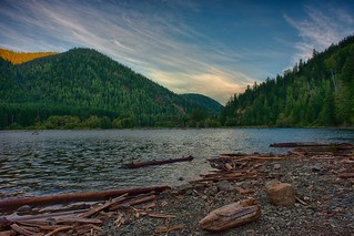 Lake Cushman Dawn HDR