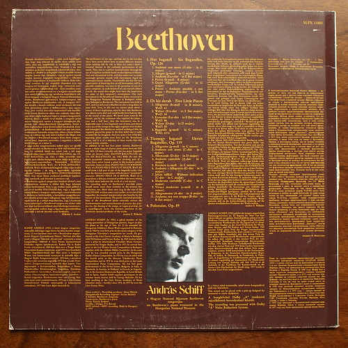 Backside Beethoven - Bagatelles op.119, op.126, 5 little Pieces Woo, Polonaise op.89 - Andras Schiff on Beethoven's Forte Piano in Hungarian Nat. museum, Hungaroton SLPX 11885