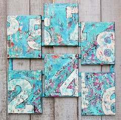 Numbers Multi Painting (JoMo (peaceofpi)) Tags: canada painting typography acrylic grunge large canvas numbers multiple weathered aged six peaceofpi