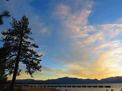 Lake Tahoe (judcoelho) Tags: california sunset lake tree pine tahoe laketahoe cu nuvem