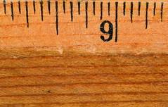 Nine (donjuanmon) Tags: old macro closeup vintage wooden nine grain 9 ruler hmm macromondays donjuanmon