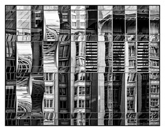 Fun House (GAPHIKER) Tags: nyc newyorkcity windows bw house reflection building facade fun mirrors funhouse fractured