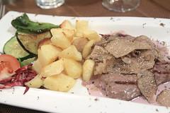 rumpsteak with teran (red wine) sauce and truffles (topquark22) Tags: food restaurant croatia truffles istria motovun montona file:name=img9329 konobamondo