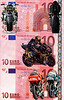 New Ten Euro notes.