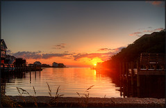 Footbridge Sunset (MurrayH77) Tags: bird nc buxton hatteras hdr obx photomatix 3exp