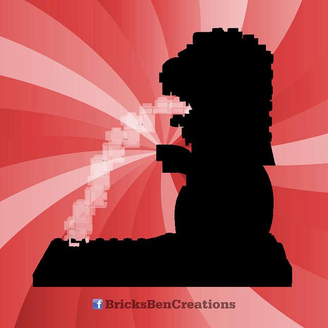 BricksBen - LEGO Merlion Singapore Icon - Teaser