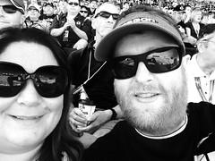 Oregon vs Wyoming (pete4ducks) Tags: portrait blackandwhite reflection emily eugene pete universityoforegon oregonducks selfie collegefootball 2014 universityofwyoming wyomingcowboys autzenstadium
