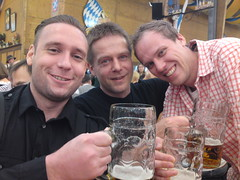3 happy campers at oktoberfest 2010!