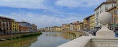 River Arno (Bryn B Jones) Tags: italy river lumix september panasonic pisa tuscany arno 2014