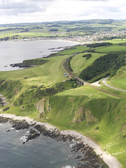 Stonehaven golf course, Scotland in 2011 (RCAHMS) Tags: golf landscape scotland aerial golfcourse canmore stonehaven aerialphotograph grampian kincardineshire rcahms