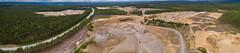 Joensuu gravel pit's panorama (firetys) Tags: above sky panorama landscape flying sand phantom gravel