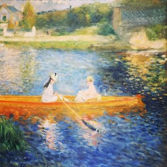Photo of The Skiff by French painter Pierre Auguste Renoir, 1875. #NationalGallery, #London.