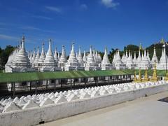 Sandamani Pagoda Stupas (tom_2014) Tags: burma burmese stupa pagoda temple buddhisttemple white library tablet inscription buddha buddhist buddhism mandalay myanmar asia asian southeastasia travel famous landmark complex