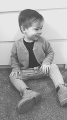 Baby you light up my world like nobody else 🌎 (charlottegilbert) Tags: family son love baby toddler child beautiful timberland grey