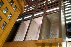Void (daniel_james) Tags: urban night sandstone sydney australia nsw cbd modernarchitecture 2014 governorphilliptower canon1022mm
