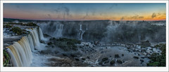 Sunset panorama from observation tower (tyil.pics) Tags: sunset panorama mist clouds waterfall nationalpark iguazufalls nikond800e