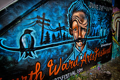 Street Art (Mark Chandler Photography) Tags: atlanta urban color colour art festival canon ga georgia photography graffiti photo grafitti atl urbanart 7d artfest cabbagetown krogstreettunnel fourthward oldfourthward markchandler