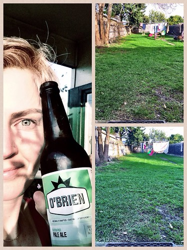 I mowed the lot. And thus had beer.