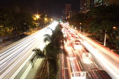 Street Lights and Ghost Cars (Iori Nim) Tags: cars lights philippines manila nightlife roxas roxasblvd philppine manilastreets