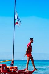 Baywatcher (FriendFisherman) Tags: italien italy beach strand nikon italia sizilien bademeister spaggia d7000