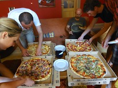 Pizza party @ hostel
