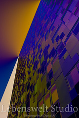 Cube X (lebensweltstudio.com) Tags: city urban abstract colour building tower art glass metal architecture modern facade landscape design office birmingham cityscape exterior architecturaldetail structure lookingup architect cube modernarchitecture thecube lattice streetview birminghamarchitecture
