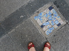 Montevideo (Gabri Le Cabri) Tags: street blue streetart feet me tiles montevideo