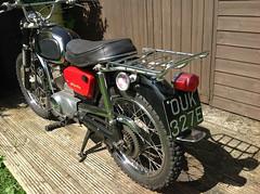rear pic (Nicola_R) Tags: red 2 two classic bike vintage bristol japanese stroke retro motorbike trail chrome 1967 motorcycle restored restoration suzuki enduro bearcat scrambler b105 trailbike b105p vjmc