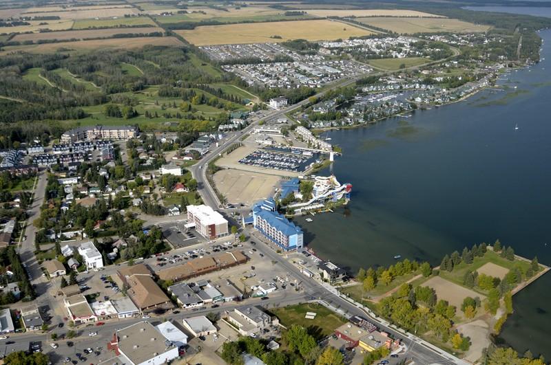 The town of Sylvan Lake