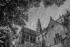 (McQuaide Photography) Tags: city blackandwhite bw holland building church haarlem netherlands monochrome architecture canon eos blackwhite europe nederland wideangle dslr centrum kerk stad gebouw uwa wideanglelens ultrawideangle 100d 1018mm mcquaidephotography