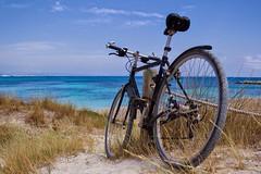 Formentera in bicicletta (CreazioniDusiero) Tags: sea summer beach canon spain mare paesaggi formentera spiaggia 1000 llevant arenili