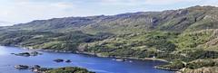 Loch nan Uamh panorama (EltonRoad) Tags: west train highlands bank railway steam line highland loch nan westcoast jacobite blackfive uamh 45407 beasdale