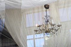 Look in on our chandelier fort.