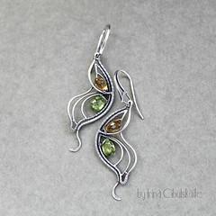 Butterfly (Taniri) Tags: jewellery earrings citrine peridot sterlingsilver