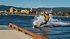 Kite Surfing (ausmc_1) Tags: summer canada water waterfront britishcolumbia july kitesurfing vancouverisland pacificocean watersports portalberni 2014 harbourquay albernicanal tamronsp2470mmf28divcusd