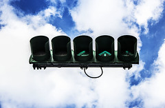 Signals in the SKY (Yun-Hsuan Mai) Tags: sky photoshop trafficlight signals guide 漂浮 红绿灯