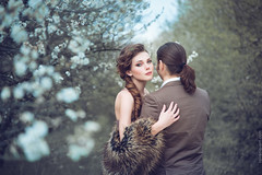 Alex & Kristina (ravenajuly) Tags: park flowers wedding red tree love nature girl beautiful beauty garden hair photo spring model hug couple july romance story curly romantic shooting press amore tender ravena ravenaartcom