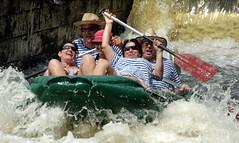 18.7.14 Vyssi Brod Weir 169 (donald judge) Tags: river boats republic czech canoes vltava brod weir rafts vyssi