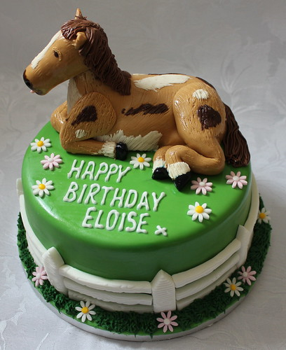 Astounding Horse Themed Birthday Cake A Photo On Flickriver Funny Birthday Cards Online Alyptdamsfinfo