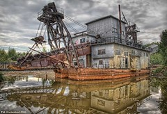 The Ladder Dredge No 8 Fairbanks Alaska (PhotosToArtByMike) Tags: alaska gold ak fairbanks miners fairbanksalaska tananavalley golddredgeno8 ladderdredge goldstreamdredgeno8 fairbanksexplorationco