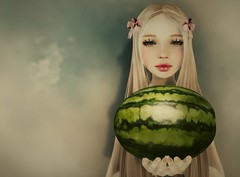 I carried a watermelon (Twig Aho) Tags: portrait fashion hair blog tram blogger watermelon event secondlife dirtydancing amacci thedreamersfactory